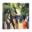 "iCanvasArt ""Promenade"" Canvas Wall Art by August Macke"