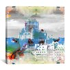 iCanvas Quebec City, Canada - Frontenac Hotel Graphic Art on Canvas