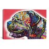 iCanvas 'Profile Mastiff' by Dean Russo Graphic Art on Canvas