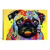iCanvasArt 'Pug' by Dean Russo Graphic Art on Canvas