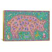iCanvas 'P Pig' by Willow Bascom Graphic Art on Canvas