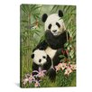 iCanvas 'Panda Paradise' by William Vanderdasson Painting Print on Canvas