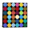 iCanvasArt Modern Art Dots Nine Colors Graphic Art on Canvas