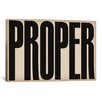 iCanvas Modern Art cProper Modern Textual Art on Canvas