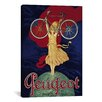 <strong>Peugeot Bicycle Advertising Vintage Poster Canvas Print Wall Art</strong> by iCanvasArt