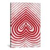 iCanvasArt Modern Art Red Spade Graphic Art on Canvas