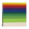 iCanvasArt Modern Art Striped Horizon Graphic Art on Canvas
