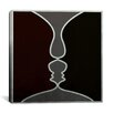 iCanvasArt Modern Art Face to Face Painting Print on Canvas