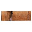 iCanvasArt Panoramic Person Praying in Front of Western Wall, Jerusalem, Israel Photographic Print on Canvas