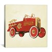 iCanvas Modern Art Fire Engine 36 Painting Print on Canvas