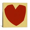 iCanvasArt Modern Art Cut-Out Love Graphic Art on Canvas
