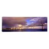 iCanvasArt Panoramic Oakland Bay Bridge San Francisco, California Photographic Print on Canvas