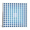 iCanvas Modern Art Faded Navy Dots Graphic Art on Canvas