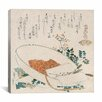"iCanvas ""Myriad Grasses Shell (Chigusagai)"" Canvas Wall Art by Katsushika Hokusai"