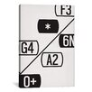 iCanvasArt Modern Art Schematic Typography Graphic Art on Canvas