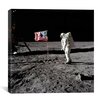 iCanvas Neil Armstrong Placing American Flag on the Moon Canvas Wall Art