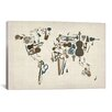 iCanvasArt 'Musical Instruments Map of the World' by Michael Tompsett Graphic Art on Canvas