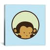 iCanvas Kids Children Monkey Face Canvas Wall Art