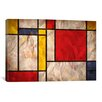 iCanvasArt 'Mondrian Inspired' by Michael Tompsett Graphic Art on Canvas