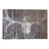iCanvasArt Canada Moose Skull 6 Graphic Art on Canvas