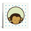 iCanvas Kids Children Monkey Face Spots Canvas Wall Art