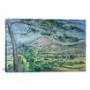 iCanvas 'Mont Sainte-Victoire with Large Pine-Tree 1887' by Paul Cezanne Painting Print on Canvas