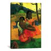 iCanvas Nafea Faaipoipo (When are You Getting Married) 1892 by Paul Gauguin Painting Print on Canvas