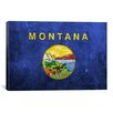 iCanvas Flags Montana Grunge Graphic Art on Canvas