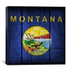 iCanvas Flags Montana Wood Planks Graphic Art on Canvas