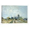 iCanvas 'Montmartre Molens en Moestuinen (Mills and Vegetable Gardens)' by Vincent van Gogh Painting Print on Canvas