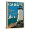 iCanvasArt 'New England' by Anderson Design Group Vintage Advertisement on Canvas