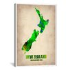 iCanvasArt 'New Zealand Watercolor Map' by Naxart Graphic Art on Canvas