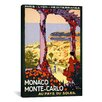 <strong>iCanvasArt</strong> 'Monte Carlo, Monaco Travel Posterroger Broders' Vintage Advertisement on Canvas