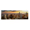 iCanvasArt Panoramic 'New York Skyline Cityscape (Sunset)' Photographic Print on Canvas