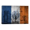 iCanvasArt Flags New York Wood Boards Statue of Liberty Graphic Art on Canvas
