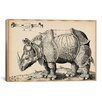iCanvas Rhinoceros by Enea Vico Graphic Art on Canvas