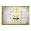 iCanvas Rhode Island Flag, Grunge Graphic Art on Canvas