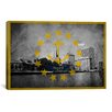 iCanvas Rhode Island Flag, Grunge Providence City Skyline Graphic Art on Canvas
