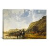 iCanvas River Landscape with Riders by Aelbert Cuyp Painting Print on Canvas