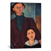 iCanvas 'Portrait of Jaques and Bethe Lipchitz' by Amedeo Modigliani Painting Print on Canvas