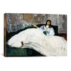 iCanvasArt 'Portrait of Jeanne Duval' by Edouard Manet Painting Print on Canvas
