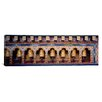 <strong>iCanvasArt</strong> Panoramic Prayer Wheels in a Temple, Chimi Lhakhang, Punakha, Bhutan Photographic Print on Canvas