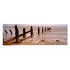 iCanvasArt Panoramic Posts on The Beach, Spurn, Yorkshire, England, United Kingdom Photographic Print on Canvas
