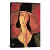 iCanvasArt 'Portrait of a Woman (Jeanne Hébuterne)' by Amedeo Modigliani Painting Print on Canvas