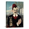 <strong>iCanvasArt</strong> 'Portrait De Pierre Loti (Portrait of Monsieur X) 1891' by Henri Rousseau Painting Print on Canvas