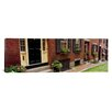 iCanvasArt Panoramic Acorn Street, Beacon Hill, Boston Massachusetts Photographic Print on Canvas