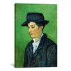 iCanvasArt 'Portrait of Armand Roulin' by Vincent van Gogh Painting Print on Canvas