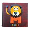 iCanvas Roar the Lion From Design Turnpike Collection Canvas Wall Art