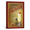 iCanvas Decorative Art 'Famous Recipe for Pina Colada' by Lisa Audit Vintage Advertisement on Canvas