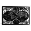 iCanvas Antique Maps Nova Totius Terrarum Orbis Tabula (1684) by J Bormeester Graphic Art on Canvas in Black